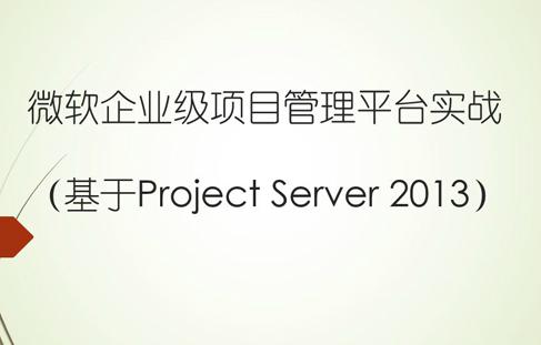 微软企业级项目管理平台实战(基于Project Server 2013)