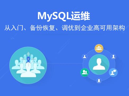 MySQL运维从入门、备份恢复、调优到企业高可用架构视频课程