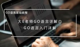 大E老师GO语言详解①:GO语言入门详解