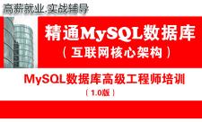 MySQL DBA数据库高级工程师培训视频专题(1.0版)