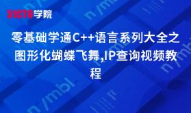 零基础学通C++语言系列大全之图形化蝴蝶飞舞,IP查询视频教程